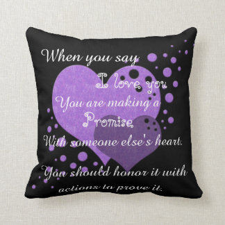 Coussin Promesse je t'aime