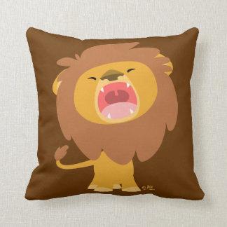 Coussin puissant mignon de bande dessinée de lion