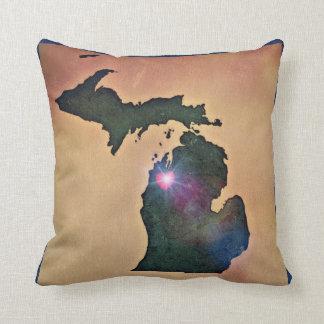 Coussin pur du Michigan - amour transversal de