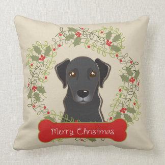 Coussin Race de chien de Joyeux Noël