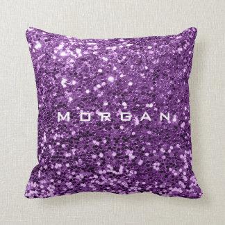 Coussin Raisin pourpre violet de paillette nommée de mode
