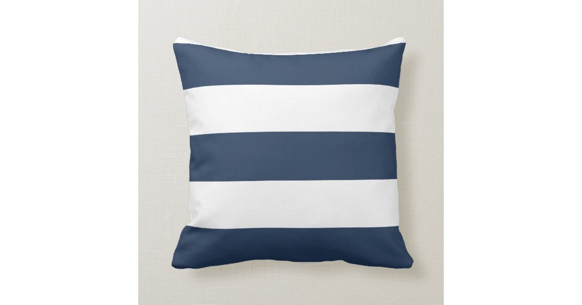 coussin ray de bleu marine et blanc nautique zazzle. Black Bedroom Furniture Sets. Home Design Ideas