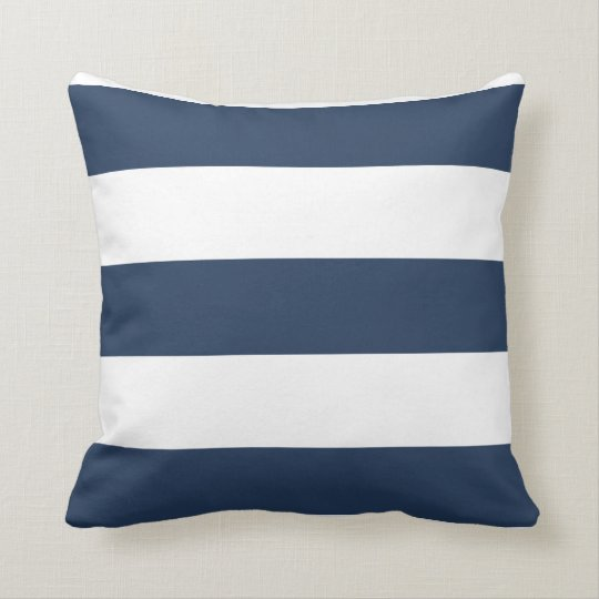 coussin ray de bleu marine et blanc nautique. Black Bedroom Furniture Sets. Home Design Ideas