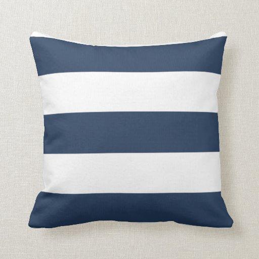 coussin ray de bleu marine et blanc nautique zazzle. Black Bedroom Furniture Sets. Home Design Ideas
