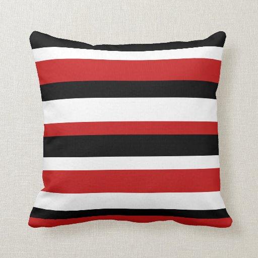 coussin ray rouge noir et blanc zazzle. Black Bedroom Furniture Sets. Home Design Ideas