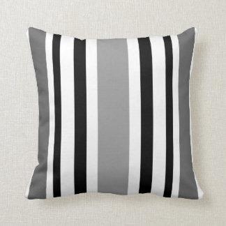 Coussin Rayure moderne Coussin-Maison-Noire/blanc/gris