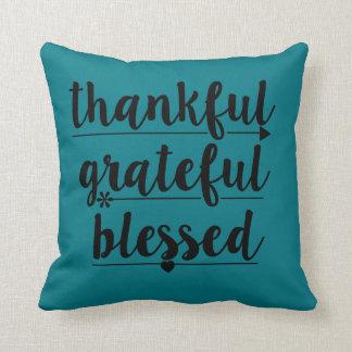 Coussin reconnaissant reconnaissant béni