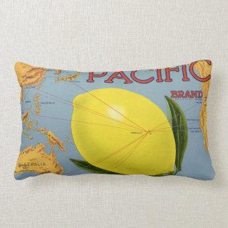 Coussin Rectangle Agrume Pacifique de citron de fruit de caisse