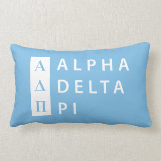 Coussin Rectangle Alpha logo empilé par | du delta pi