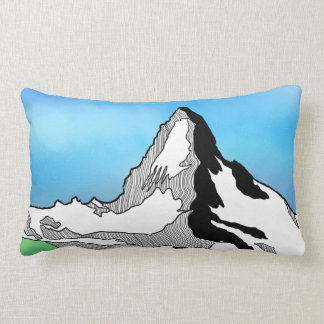 Coussin Rectangle Aquarelle Matterhorn Suisse de schéma