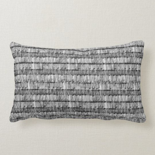 Coussin Rectangle black white noir blanc traits strokes lines