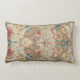 Coussin Rectangle Broderie 1875 florale de William Morris de cru