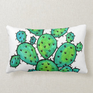 Coussin Rectangle Cactus épineux d'aquarelle magnifique