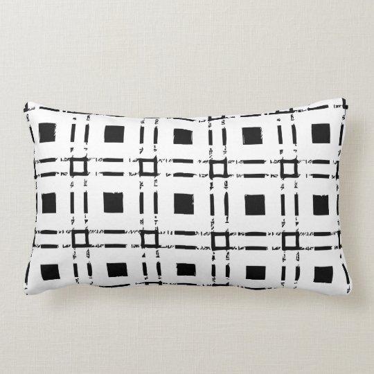 Coussin Rectangle carré square noir blanc black white