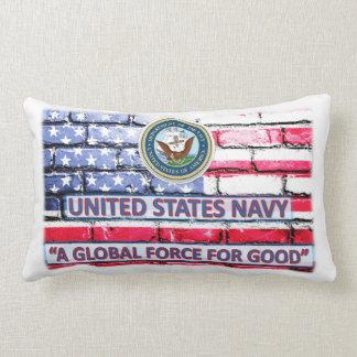 "Coussin Rectangle Carreau 13"" de marine de drapeau américain X.21 """