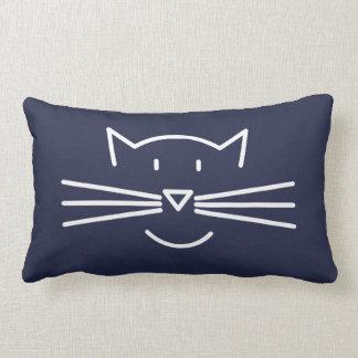 Coussin Rectangle Carreau blanc d'ensemble de visage de chat