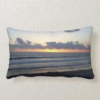 Coussin Rectangle Carreau de côte de coucher du soleil de plage