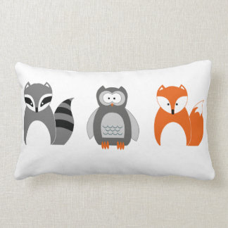 Coussin Rectangle Carreau de raton laveur de hibou de Fox de bébé