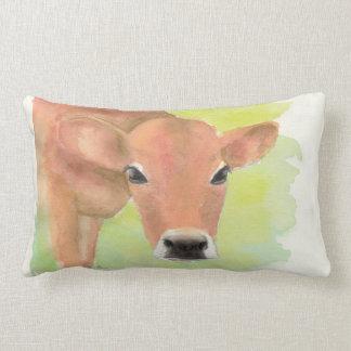 Coussin Rectangle Carreau de vache à aquarelle