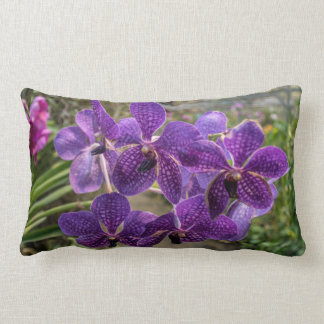 Coussin Rectangle Carreau pourpre d'orchidée