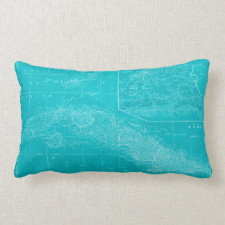 Coussin Rectangle Carte bleue du Cuba