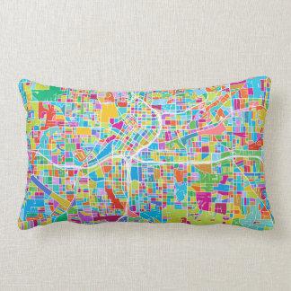 Coussin Rectangle Carte colorée d'Atlanta