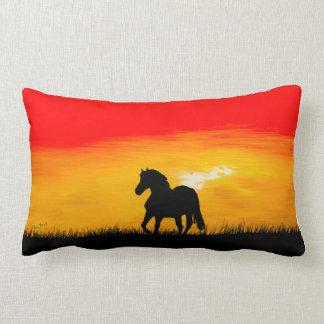 Coussin Rectangle cheval de coucher du soleil