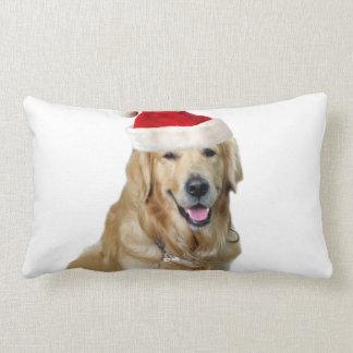 Coussin Rectangle Chien-animal familier de Labrador Noël-père Noël