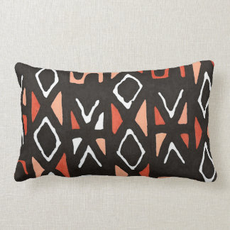 Coussin Rectangle Copie tribale de Mudcloth d'Africain orange