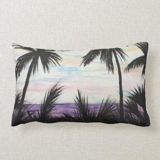 Coussin Rectangle Coucher du soleil pourpre de plage