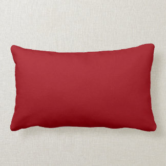 Coussin Rectangle Couleur solide : Rouge de canneberge