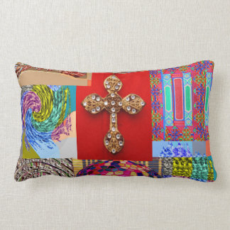 Coussin Rectangle CROISÉ décoré avec la collection d'art miniature