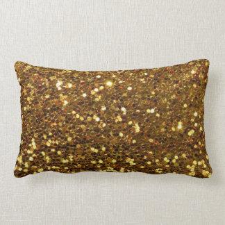 Coussin Rectangle Décor scintillant de Las Vegas de paillette d'or