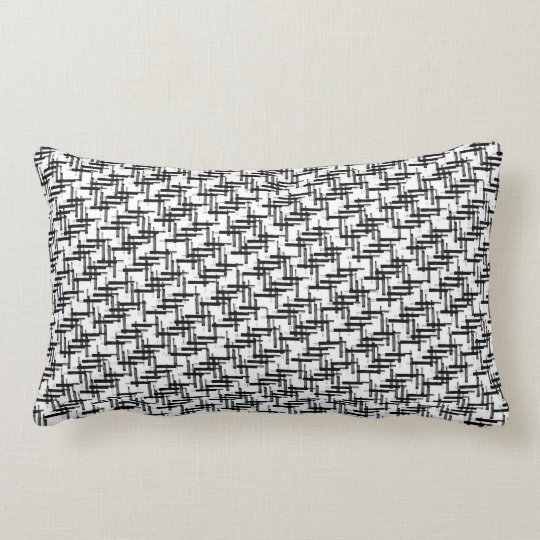 Coussin Rectangle design noir blanc gris black white grey