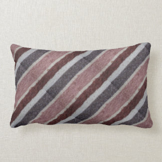 Coussin Rectangle diaganon tricoté à la main de brun et de biege