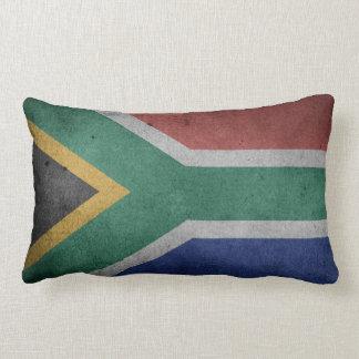 Coussin Rectangle Drapeau grunge vintage de l'Afrique du Sud