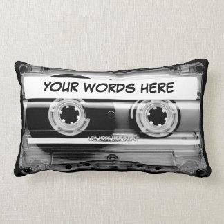 Coussin Rectangle Enregistreur à cassettes personnalisé