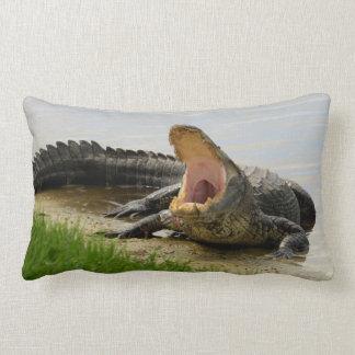 Coussin Rectangle Êtes-vous courageux ? Sommeil avec moi alligator
