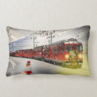 Coussin Rectangle Express de Pôle Nord - train de Noël - train de