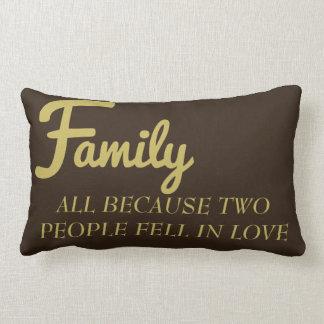 Coussin Rectangle Famille toute parce que deux personnes sont