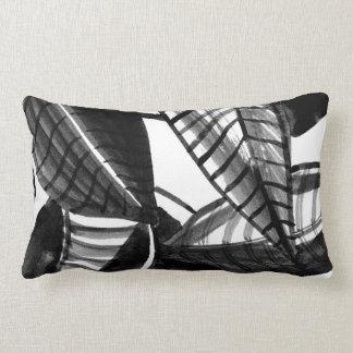 Coussin Rectangle Feuille noir et blanc