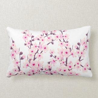 Coussin Rectangle Fleurs de cerisier florales (Sakura)