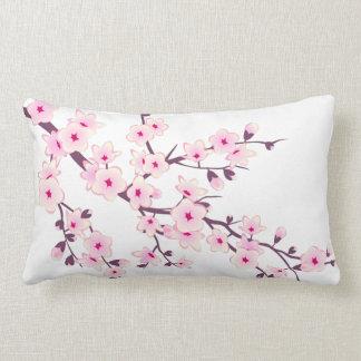 Coussin Rectangle Fleurs de cerisier roses florales