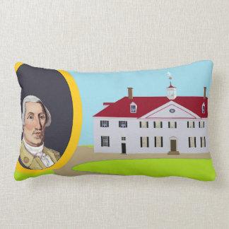 Coussin Rectangle George Washington et Mt Vernon