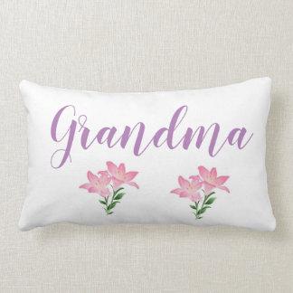 Coussin Rectangle grand-maman de fleur