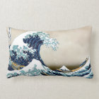 Coussin Rectangle Grande vague de haute qualité outre de Kanagawa