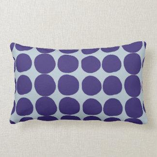 Coussin Rectangle Grands points bleu-foncé