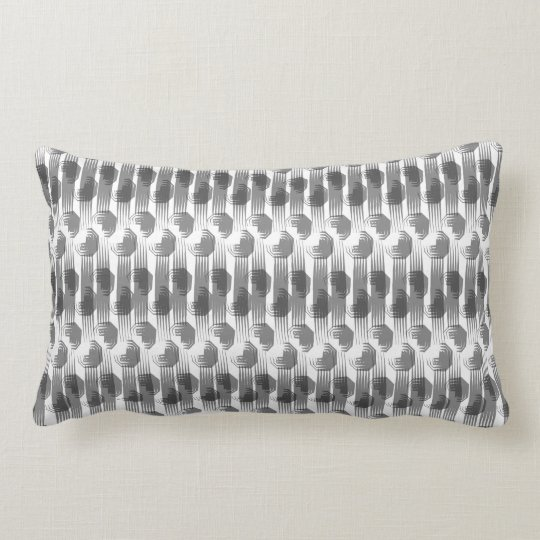 Coussin Rectangle graphic design gris gey