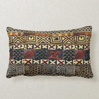 Coussin Rectangle Graphique africain âgé de tissu de boue