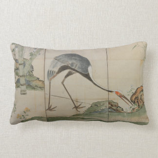 Coussin Rectangle Grues, pins, et bambou